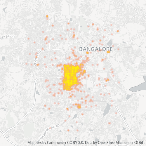 560004 Business Density Heatmap
