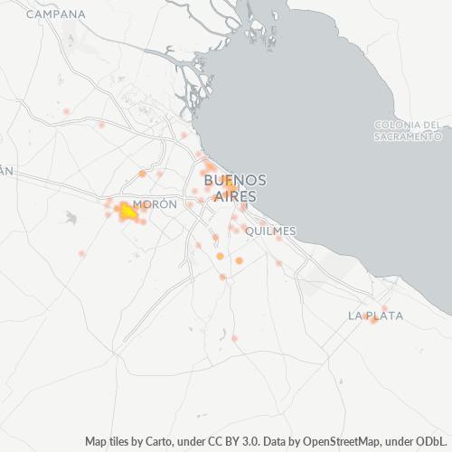 1718 Mapa de calor de densidad empresarial