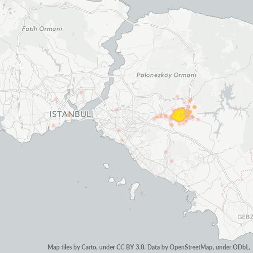 34791 Şirket Yoğunluğu Isı Haritası
