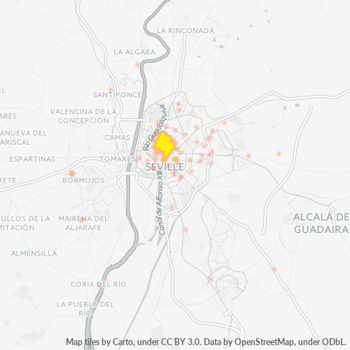 41003 Mapa de calor de densidad empresarial