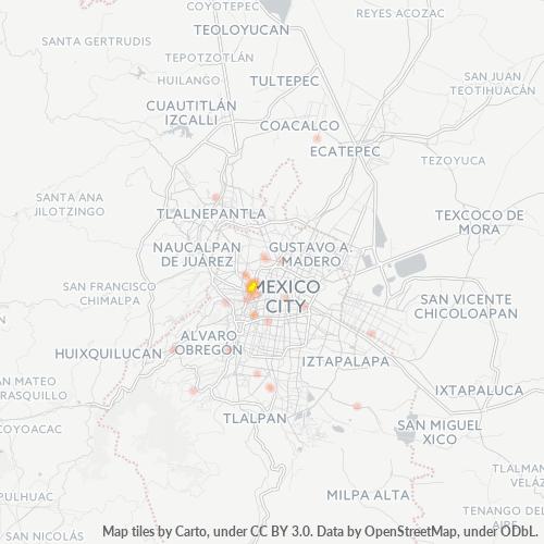 11370 Mapa de calor de densidad empresarial