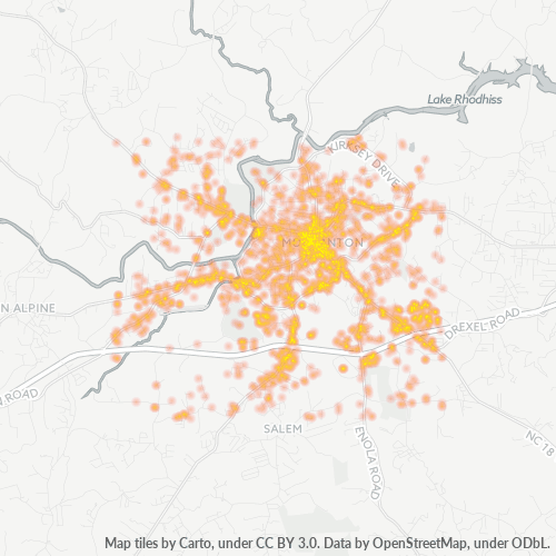 28655 Business Density Heatmap