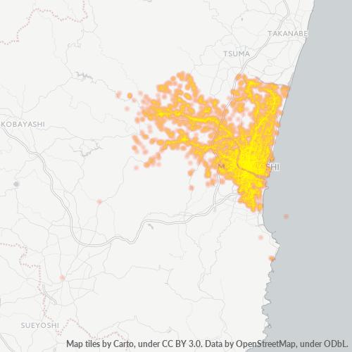 880 事業密度ヒートマップ