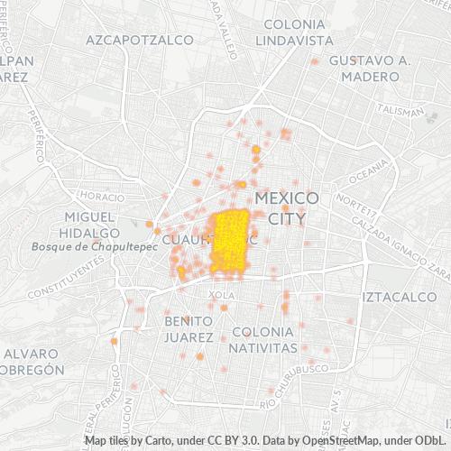 06720 Mapa de calor de densidad empresarial