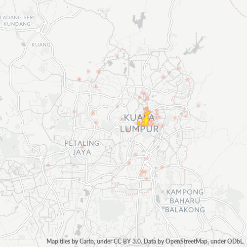 50000 Business Density Heatmap