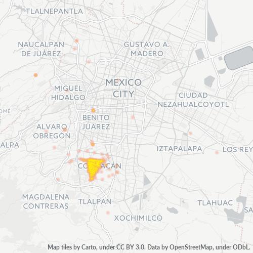 04369 Mapa de calor de densidad empresarial