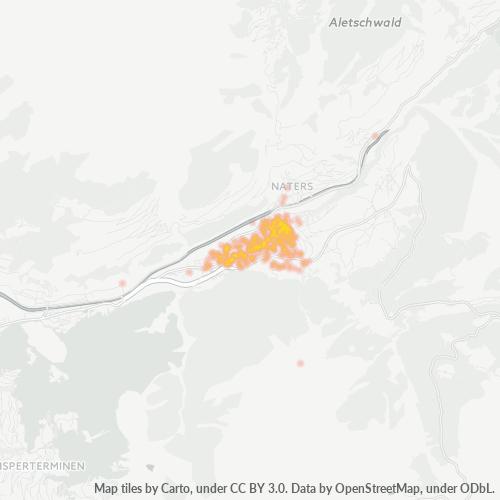 3902 Standortdichte-Heatmap