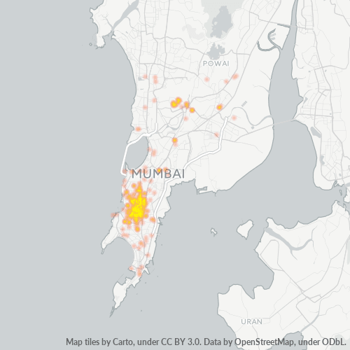 400011 Business Density Heatmap
