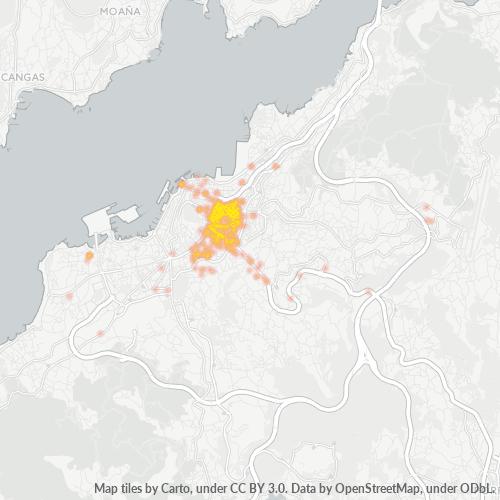 36204 Mapa de calor de densidad empresarial