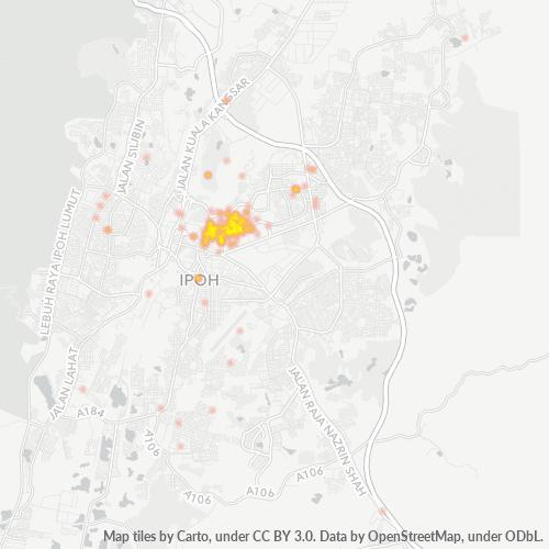 30450 Business Density Heatmap