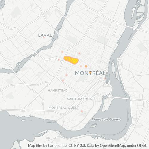 H3N Business Density Heatmap