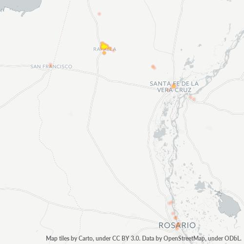 2300 Mapa de calor de densidad empresarial