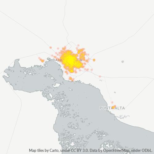 8000 Mapa de calor de densidad empresarial