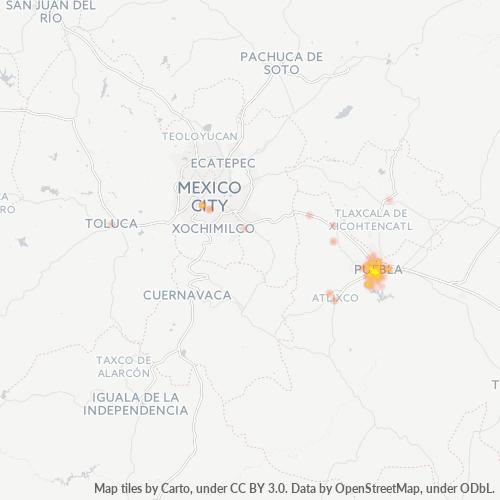 72410 Mapa de calor de densidad empresarial