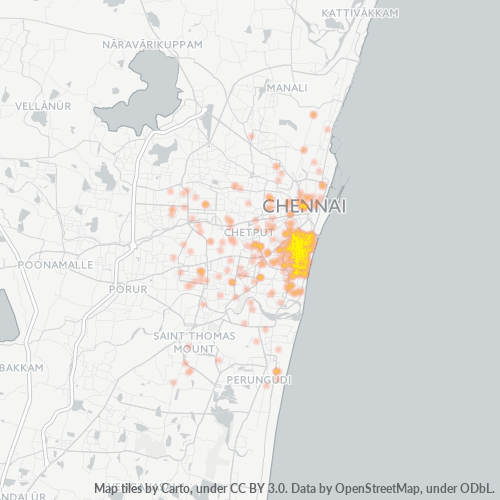 600005 Business Density Heatmap