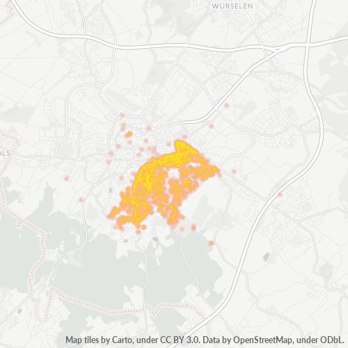 52066 Standortdichte-Heatmap