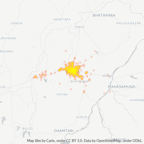 492001 Business Density Heatmap