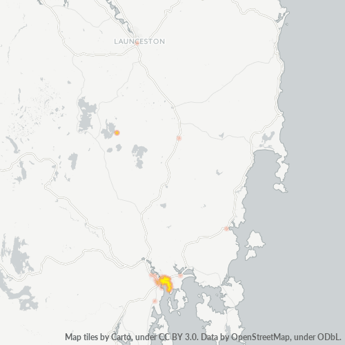 7018 Business Density Heatmap
